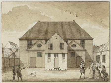 Doopsgezinde kerk Zaandam-West, 18e eeuw, door J. Bruinvis, 1849.