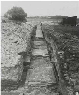 Het muurwerk zoals dat in 1933 tevoorschijn kwam.