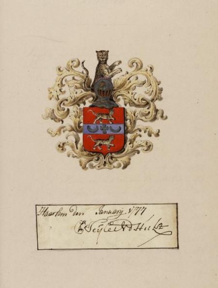 Wapen van Pieter Teyler.