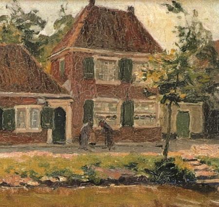 Detail H.J. Wolter, 'Langs de vaart, Enkhuizen' (1917).
