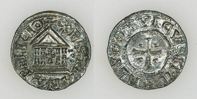 Vroegmiddeleeuwse munt gevonden bij de opgraving in Groot Olmen.