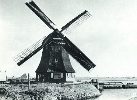 De in 1803 herbouwde Hargermolen van de Vereenigde Harger- en Pettemerpolder.