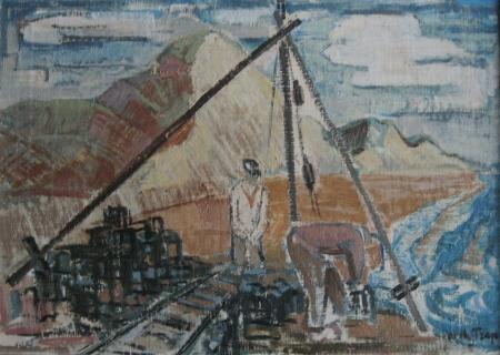 Hondsbossche Zeewering, Dirk Trap, ca. 1960.