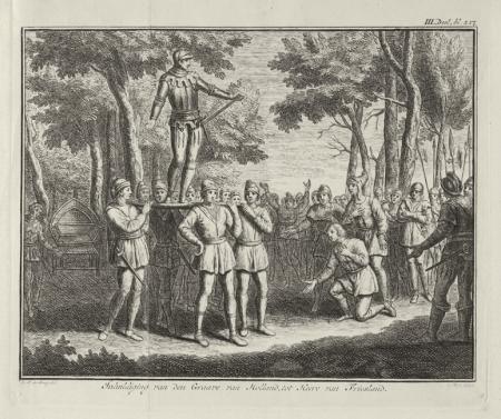 Inhuldiging van de Graaf van Holland