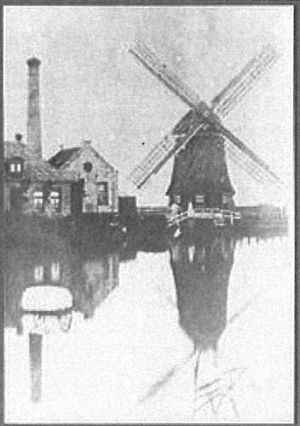 De watermolen de Palingjager en het stoomgemaal, 1890.