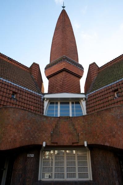 Het torentje aan de achterkant van Het Schip.