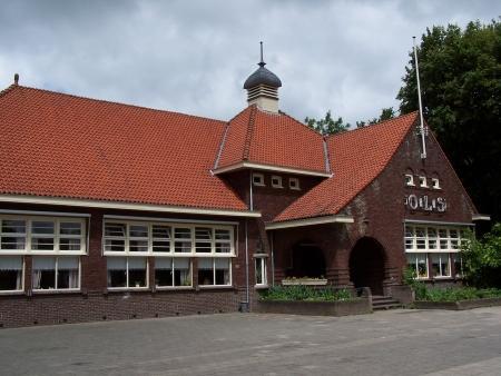 Het schoolgebouw in Nieuwe Niedorp