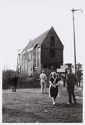 Het transport naar de Zaanse Schans, 19 april 1963