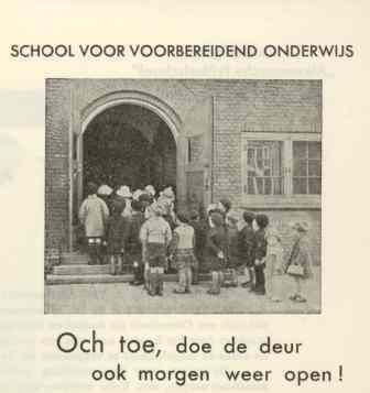 Folder van de verloting van 1938 tot behoud van de school.