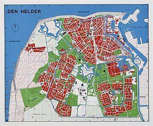 Kaart van Den Helder.