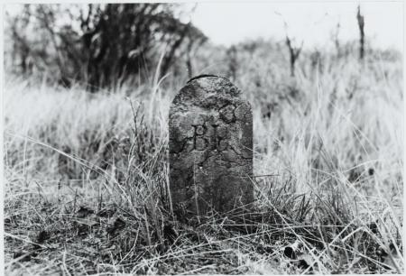 Eén van de grenspalen uit 1851