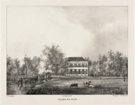 Vaart en Duin (ca. 1840) op een prent vanPetrus Josephus Lutgers (1808-1874)