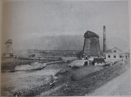 Het stoomgemaal rond 1900.