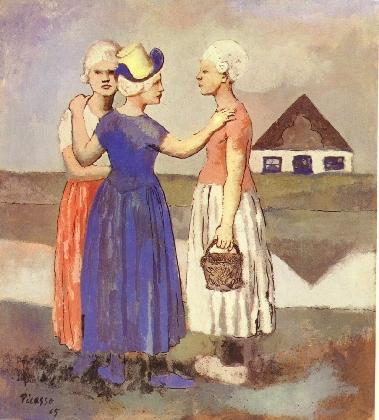 'Les trois Hollandaises', door Pablo Picasso, 1905.