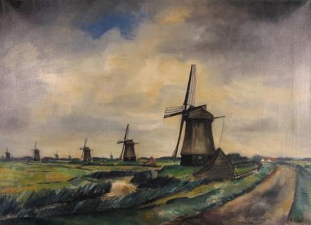 Schermermolens tussen Westfgrafdijk en Driehuizen