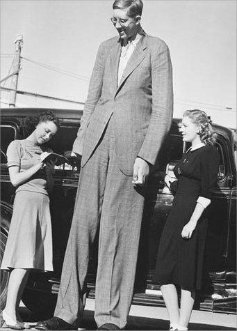 Volgens het Guiness Book of World Records was Robert Wadlow de langste man ooit. Hij mat 272 cm.