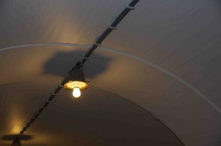 De lampen zijn een historisch detail