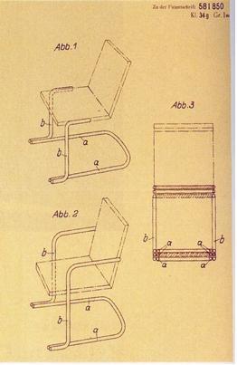 De achterpootloze stoel van Mart Stam.