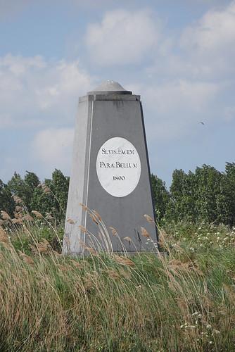 Linie van Beverwijk, gedenkteken op lunet nr. 14
