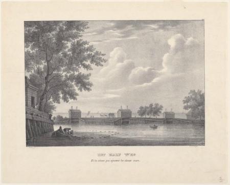 Gezicht op de Houtrak vanuit Halfweg, 1829.