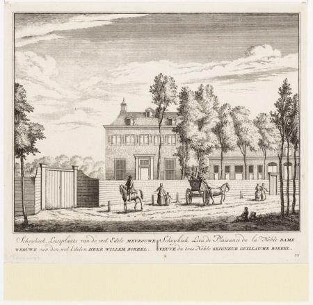 Buitenplaats Scheibeek, door Abraham Radema Scheybeek, 1807.