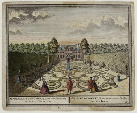 Hofstede Hogergeest van Adam van Rijn in 1729, gemaakt door Hendrik de Leth (1703-1766)