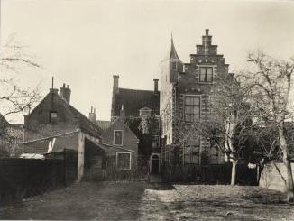Achterzijde van de Nieuwe Doelen, 1945.