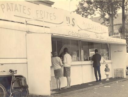 De wagen uit 1948 werd aan de tijd aangepast: foto uit 1966.