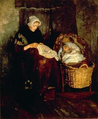 Albert Neuhuys: 'Moeder met kind'.