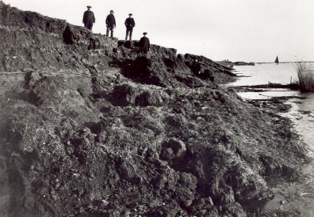 Dijkdoorbraak aan de Zeedijk tussen Muiden en Muiderberg