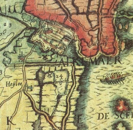 De tijdens het Spaans beleg van Alkmaar weer blank gezette Boekelermeer (nr. 24).