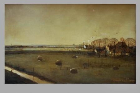 Schilderij 'Wormer' door Gerrit de Jong, 1970.