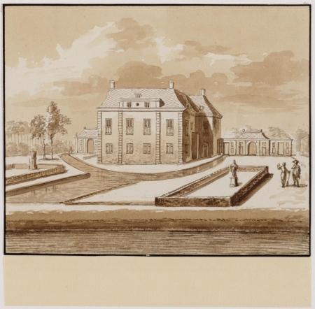 Huis Nijenburg bij Alkmaar.