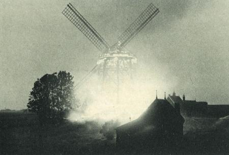 Molenbrand in de Schermer, 1957.