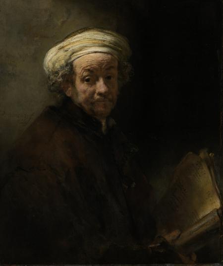 Zelfportret van Rembrandt als Paulus, geschilderd in 1661. Collectie: Rijksmuseum Amsterdam.