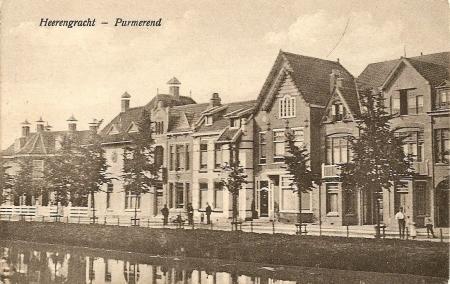 Oude ansichtkaart van de Herengracht, 1910-1920.