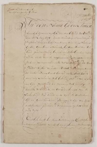 Het testament van Pieter Teyler (1756).