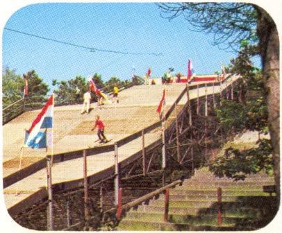 Il Primo ten tijde van de opening van de skibaan in 1969. De tribune van het openluchttheater is nog zichtbaar.