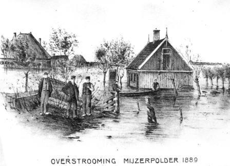 Overstroming Mijzenpolder 1889