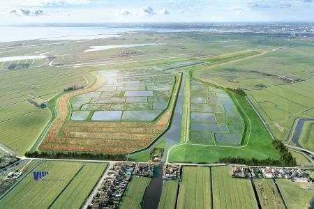 Het beoogde landschapsontwerp voor de nieuwe Volgermeerpolder.