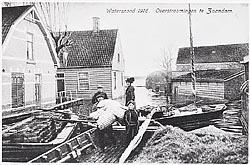 De overstroming van 1916 zorgde voor een enorme ravage