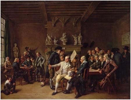 Het Teekencollegie van Haarlem, door Wybrand Hendriks, 1799.