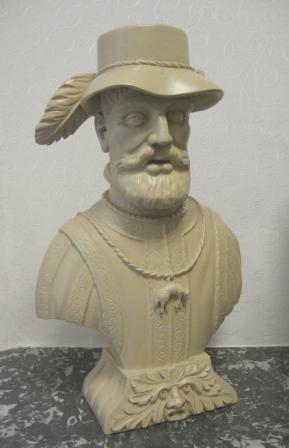 Borstbeeld van keizer Karel V, de 'watermanager'.