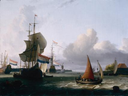 Melkschuit op het IJ in de zeventiende eeuw.