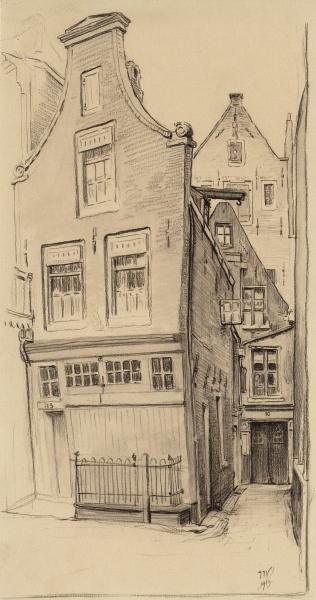 Tekening Ids Wiersma, 1913. [c] STADSARCHIEF AMSTERDAM
