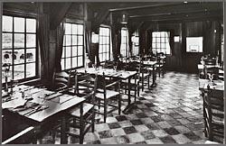 Het interieur van het vleethuis op de Zaanse Schans