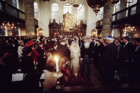 Bruiloft in de Portugese Synagoge, circa 2001