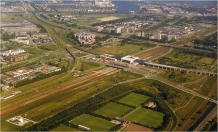 Luchtfoto van Teleport.