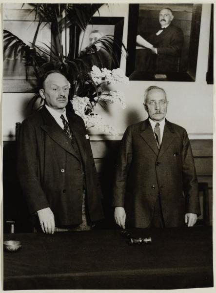 Henri Polak, voorzitter ANDB, 1931.