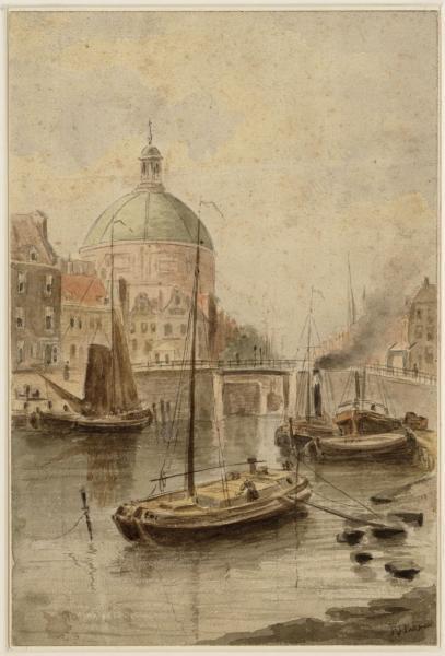De Haarlemmersluis in het Singel.
